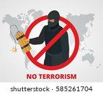 stop terrorism. terrorism is... | Shutterstock .eps vector #585261704