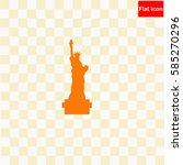 statue of liberty  icon vector... | Shutterstock .eps vector #585270296