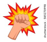 fire fist icon. cartoon... | Shutterstock .eps vector #585270998