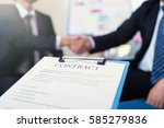 business contract on background ... | Shutterstock . vector #585279836