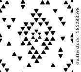 seamless hand drawn geometric... | Shutterstock .eps vector #585283598
