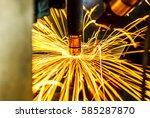 motion welding robots in a car... | Shutterstock . vector #585287870