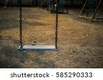 swing  seat   a  usually... | Shutterstock . vector #585290333