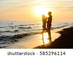 Romantic Young Couple In Love...