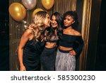 shot of three girls in the... | Shutterstock . vector #585300230