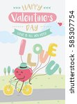 happy valentine's day | Shutterstock .eps vector #585307754