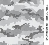 urban camouflage seamless... | Shutterstock .eps vector #585307868