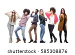 group of people full body | Shutterstock . vector #585308876