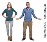 group of people full body | Shutterstock . vector #585308960