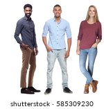 group of people full body | Shutterstock . vector #585309230