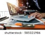 business team meeting. photo... | Shutterstock . vector #585321986