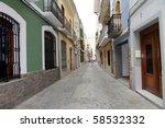 old city  cullera  valencia... | Shutterstock . vector #58532332