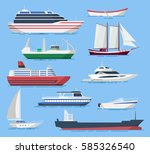 ships and boats vector set in a ... | Shutterstock .eps vector #585326540