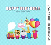 happy birthday  | Shutterstock .eps vector #585327974