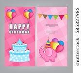 happy birthday  | Shutterstock .eps vector #585327983
