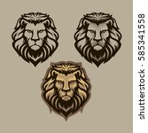 lion head illustration | Shutterstock .eps vector #585341558