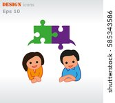 group of people icon  friends... | Shutterstock .eps vector #585343586