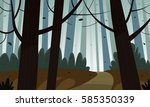 cartoon illustration of the... | Shutterstock .eps vector #585350339