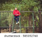 a chair umpire sitting on a...   Shutterstock . vector #585352760