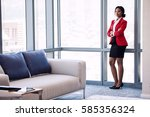 wide full body shot of business ... | Shutterstock . vector #585356324