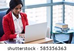 african american business woman ... | Shutterstock . vector #585356363