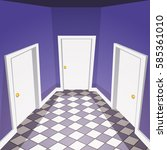 cartoon vector illustration of... | Shutterstock .eps vector #585361010