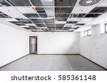 opened hung ceiling at... | Shutterstock . vector #585361148