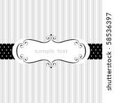 template frame design for... | Shutterstock .eps vector #58536397