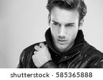 fashion man  handsome serious... | Shutterstock . vector #585365888
