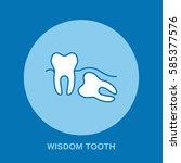 dentist  orthodontics line icon.... | Shutterstock .eps vector #585377576