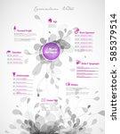 creative  purple color cv  ... | Shutterstock .eps vector #585379514