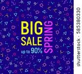 abstract big sale banner ... | Shutterstock .eps vector #585380330