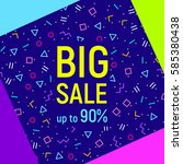 abstract big sale banner ... | Shutterstock .eps vector #585380438