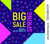 abstract big sale banner ... | Shutterstock .eps vector #585380459