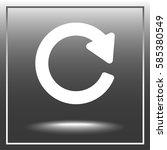update sign icon  vector... | Shutterstock .eps vector #585380549