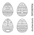 Easter Eggs With Tribal...