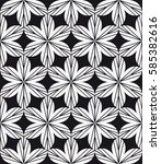 vector seamless pattern with... | Shutterstock .eps vector #585382616