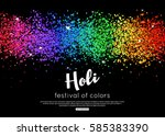 happy holi background indian... | Shutterstock .eps vector #585383390