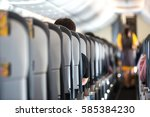passengers traveling by a plane ...   Shutterstock . vector #585384230