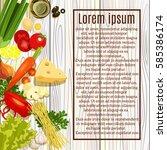 vector vegetables  groceries.... | Shutterstock .eps vector #585386174