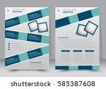 brochure template. business... | Shutterstock .eps vector #585387608