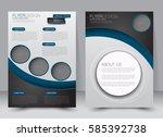 brochure template. business... | Shutterstock .eps vector #585392738