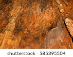 view of the stalactites and...   Shutterstock . vector #585395504