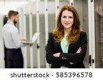 portrait of technician standing ... | Shutterstock . vector #585396578