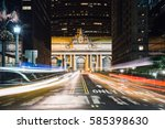 traffic at the grand central... | Shutterstock . vector #585398630