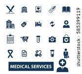 medical services icons  | Shutterstock .eps vector #585399119