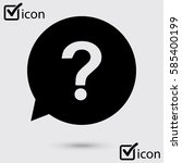 question mark sign icon. help... | Shutterstock .eps vector #585400199
