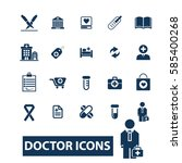 doctor icons  | Shutterstock .eps vector #585400268