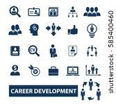 career icons | Shutterstock .eps vector #585400460