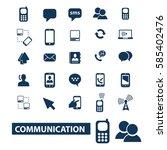 communication icons | Shutterstock .eps vector #585402476